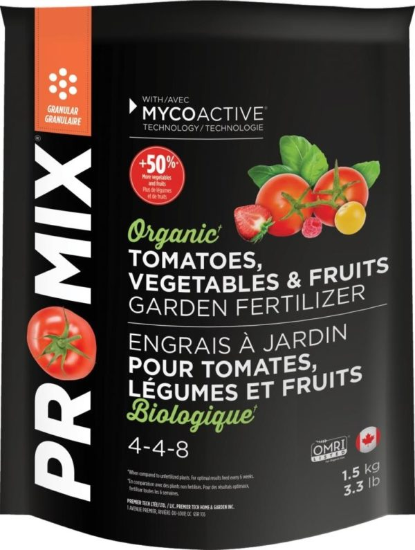 PRO-MIX Organic Fertilizer - Tomatoes, Vegetables and Fruits 4-4-8