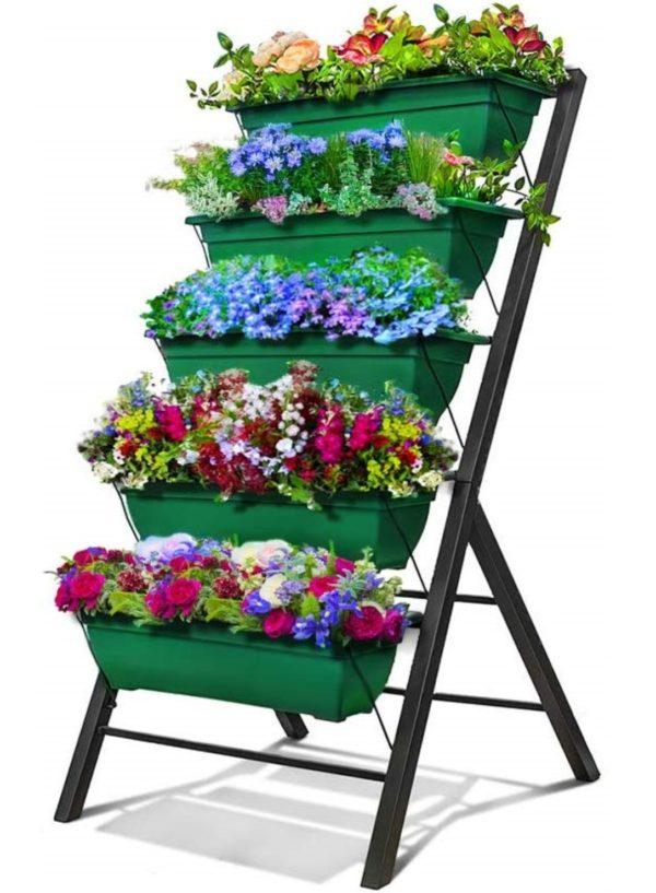 5-Bin Vertical Garden – Green