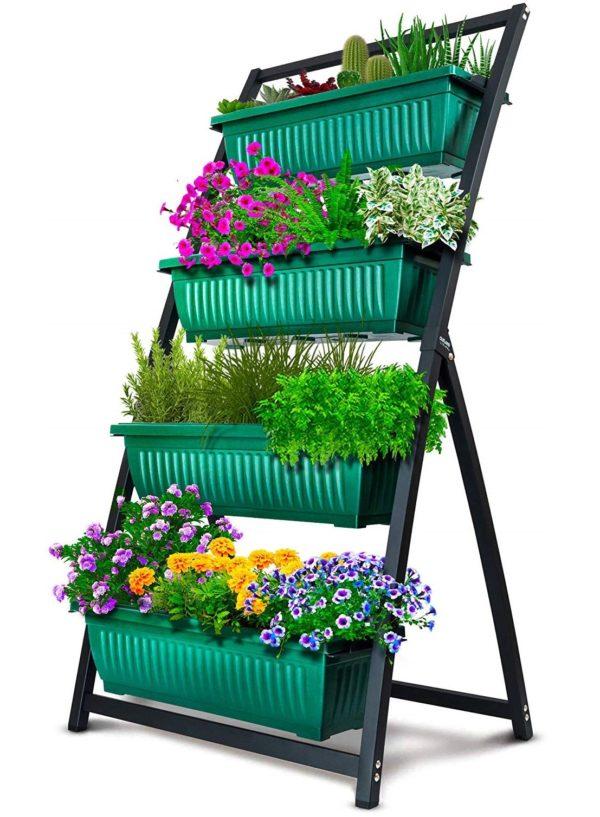 4-Bin Vertical Garden - Green
