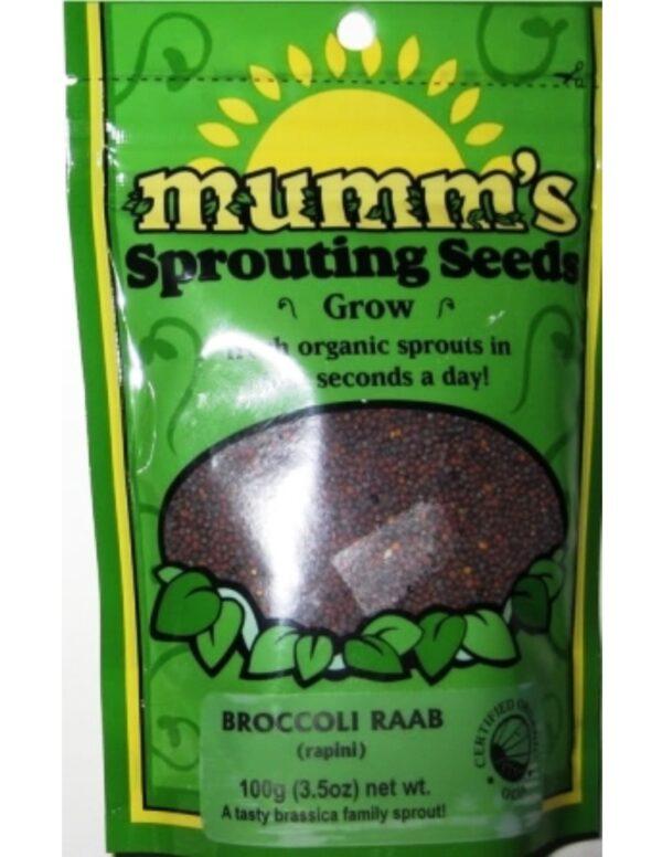 Organic Broccoli-Raab Sprouting Seeds