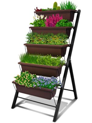 5-Bin Vertical Garden – Brown