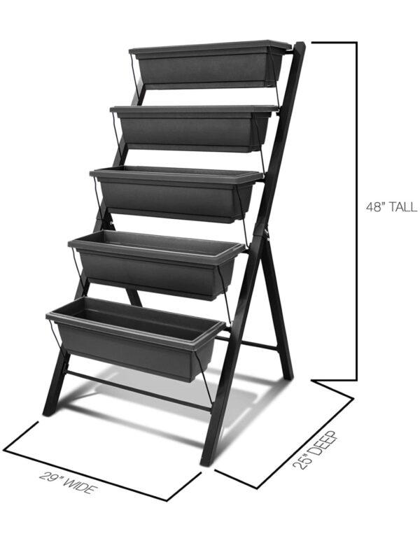 5-Bin Vertical Garden – Grey